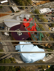 Looking down at the EMP/Sci-Fi Museum building.