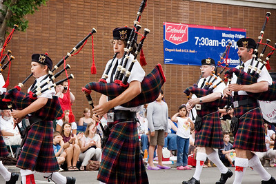 I liked the bagpipes and kilts and the looks of concentration by young and old.