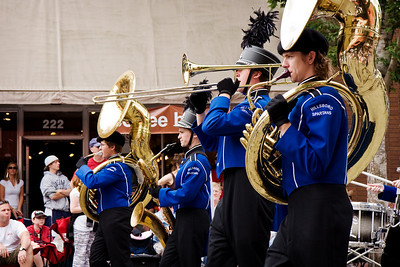 We live very close to a local high school and their marching band often practices by marching down our street.