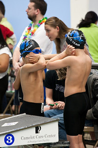 letting off some steam before the 100 medley relay