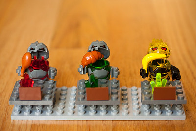 LEGO rockmonsters, having lunch.