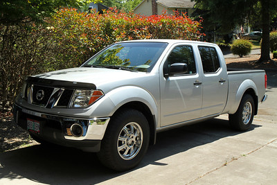 2007 Nissan Frontier SE 4x4, V6, Crew Cab, Long Bed with 43,604 miles. Purchased on June 30, 2012 from Nissan of Gresham. Feels great to own a truck again.  Garage and yard projects...here we come!