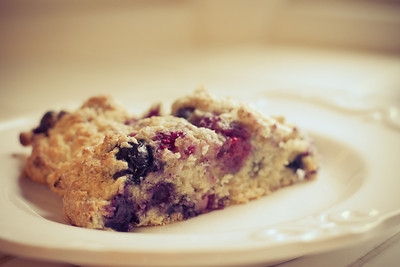 Triple Berry Scones.