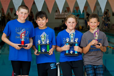 May 13, 2012 - Mother's Day at the MHA Sextathlon.  Four HEAT swimmers placed in the top 12 for 9-10 year old boys. Patrick - 11th Anton - 3rd Ethan - 1st Nathaniel - 9th