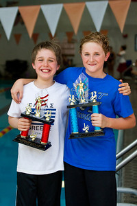 May 13, 2012 - Mother's Day at the MHA Sextathlon.  Ethan and Alex H from PAC.  They've been racing each other for 3 years now.  When they were in the 8&Under category, Alex won 1st and Ethan won 2nd.  Last year, as 9 yr olds in the 9-10 yr old category, Ethan got 4th and Alex got 5th.  This year, they were 1st and 2nd again, for the 9-10 yr old boys.