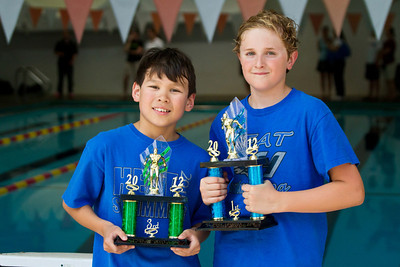 May 13, 2012 - Mother's Day at the MHA Sextathlon.  Ethan and Anton...1st and 3rd for the 9-10 yr old boys.