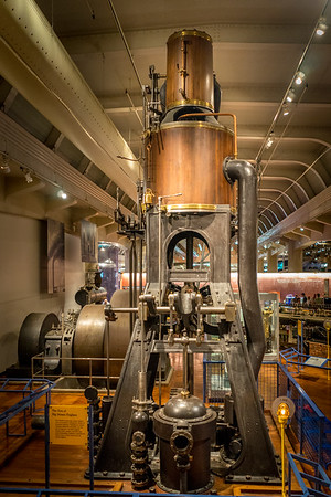 Marine Steam Engine from 1875 at The Henry Ford Museum