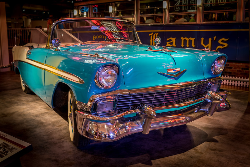 1956 Chevrolet Bel Air convertible at The Henry Ford Museum