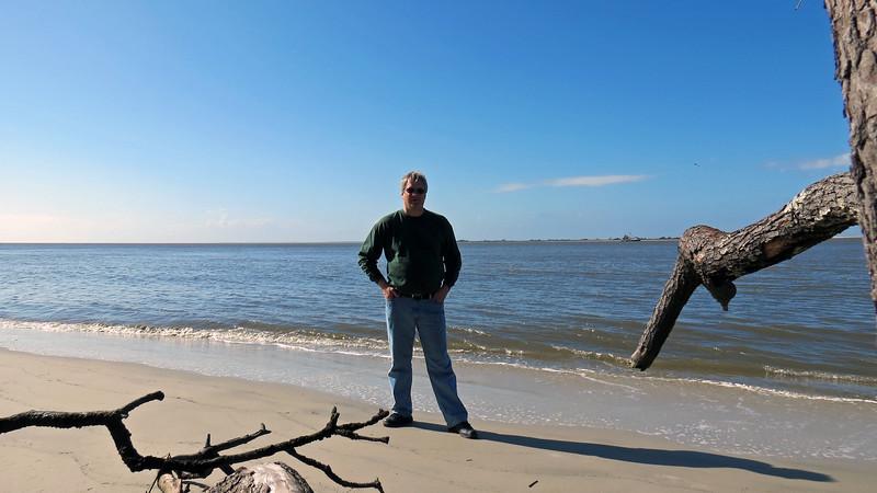 November 25, 2015:  On the beach at the St. Andrew's picnic area, Jekyll Island, Georgia .  .  .