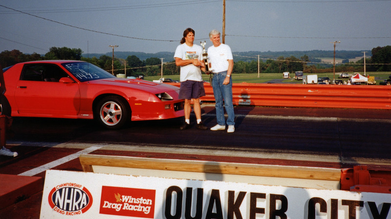 August 7, 1994:  This year's Supercar Showdown was a good one for me.  I took first place in the Factory Stock 1976 - up Dial-In class in my 1991 Camaro Z28 and went home with a trophy .  .  .