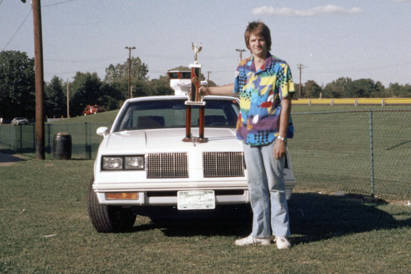 "August 21, 1988:  I took second place at the annual Supercar Showdown held every summer at Quaker City Dragway in Salem, Ohio, USA.  My 1985 Oldsmobile 442 wasn't particularly fast, (it would only go 16.3s).  But it was consistent which helped me snag second place in the ""1976-Up Dial-In"" class."