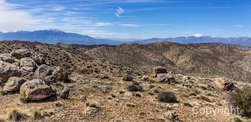 San Jacinto & San Gorgonio from Quail Mountain