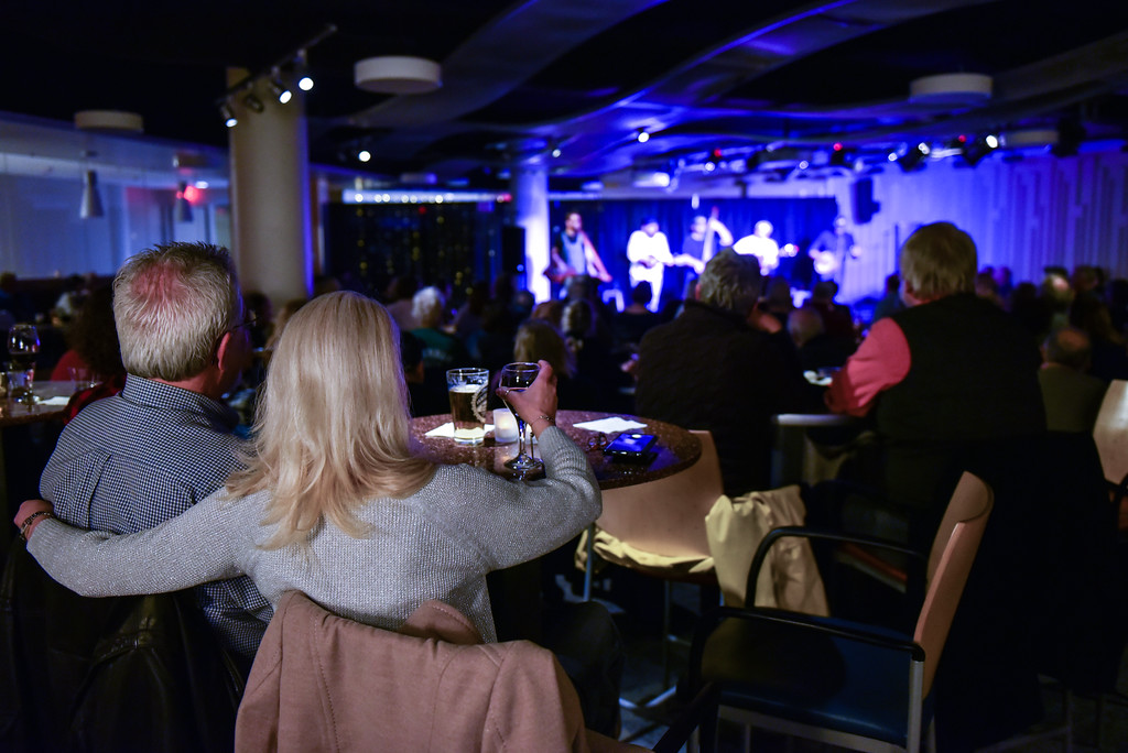 . (02/10/18 FITCHBURG  MA) Couples enjoy a Saturday night listening to The Hillbenders play live at Fitchburg State University.  SENTINEL & ENTERPRISE JEFF PORTER
