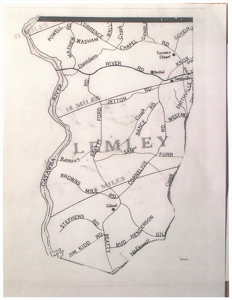 Cornelius was once 2 townships - Lemley & Deweese. This map illustrates Lemley Township.