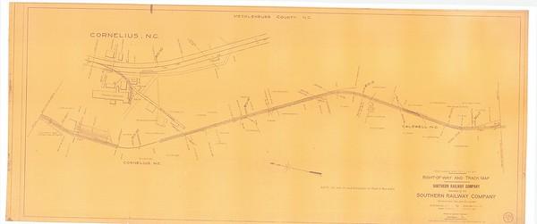1927 Southern Railway Map.