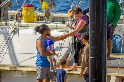 Crew Member and Family