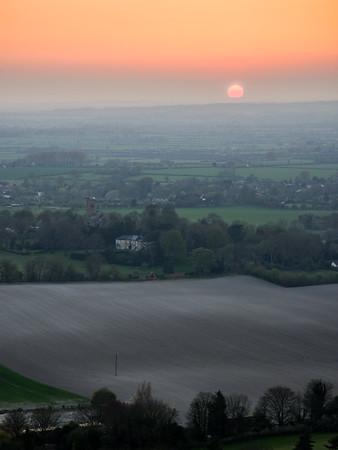 Sunset over Aylesbury Vale