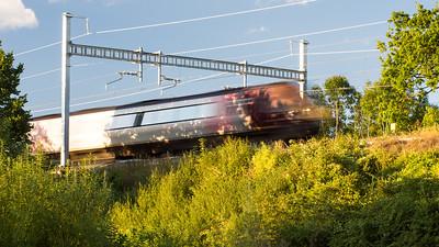 Crosscountry train at Goring Gap