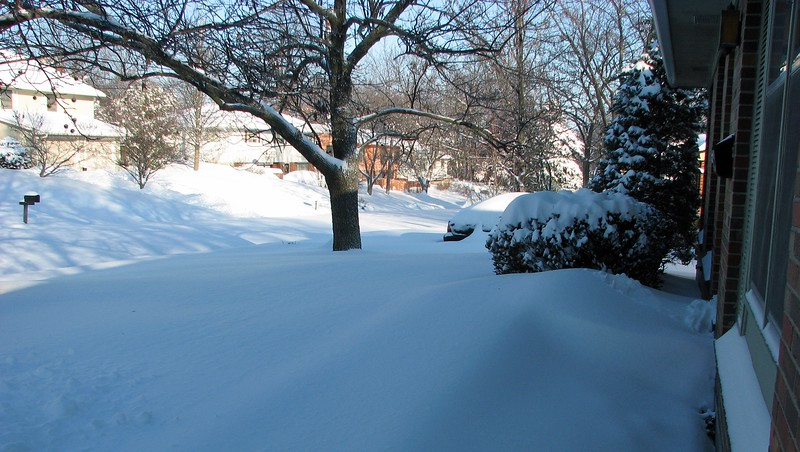 This is how every neighborhood in the city looked the morning after the snowfall.