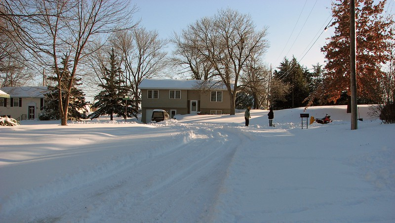 So I went the other way, (uphill).  I played for a while, cutting a few more tracks in the snow.