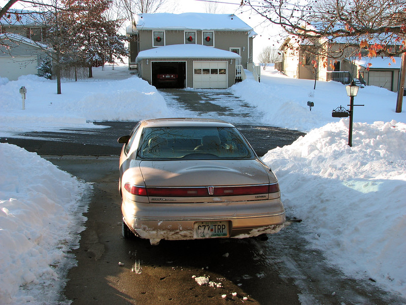 And so I kept shoveling.  Eventually I cleared the entire road in front of my house.
