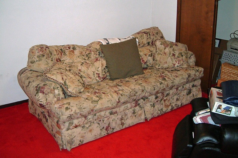 We also decided to move the large couch here as well.