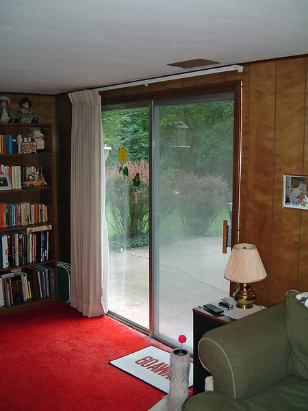 As was the case with so many aspects of this house, the sliding glass door in the basement is the original unit from 1968.