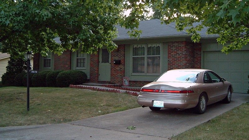 The front of our house in Columbia, Missouri.