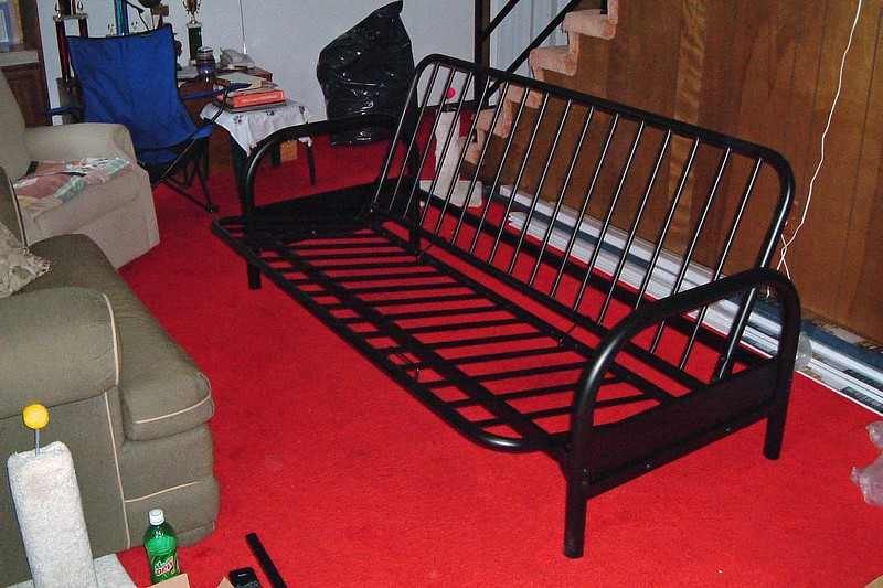 The next small project we wanted to complete for Petra's arrival was getting a small futon bed for the basement.