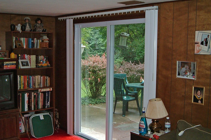 Installing vertical blinds is quite easy.  The first step is to mount the rod on the wall.