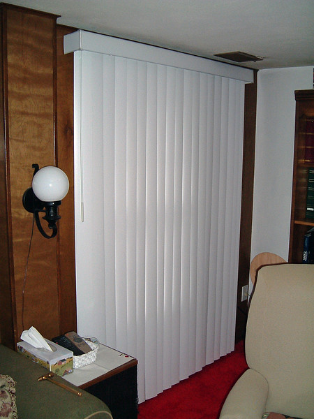 With the blinds closed, the window and panel are covered.