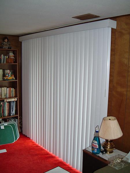 New vertical blinds for the sliding glass door.