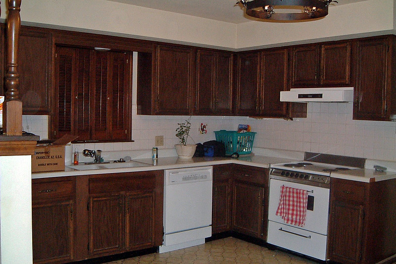 The kitchen was a little dated, but more than made up for it with its size.