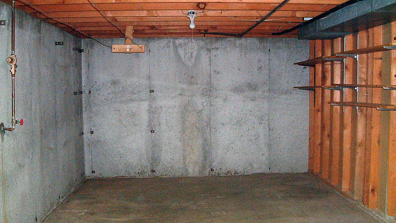 Large basement storage room.
