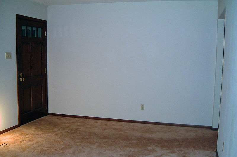 The front door opens into the living room.