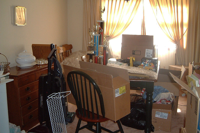 The dining room was still a mess, however.