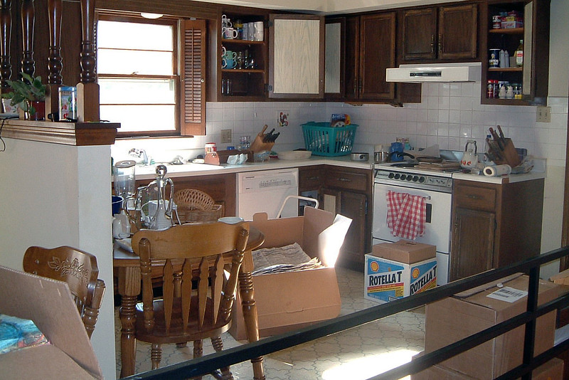 June 15:  The stack of boxes that was sitting by the railing gradually began to disappear as stuff was unpacked and put away.