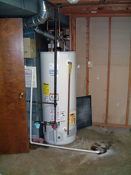 New 50 gallon water heater.
