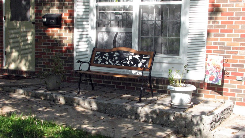 The new porch was completed last year.