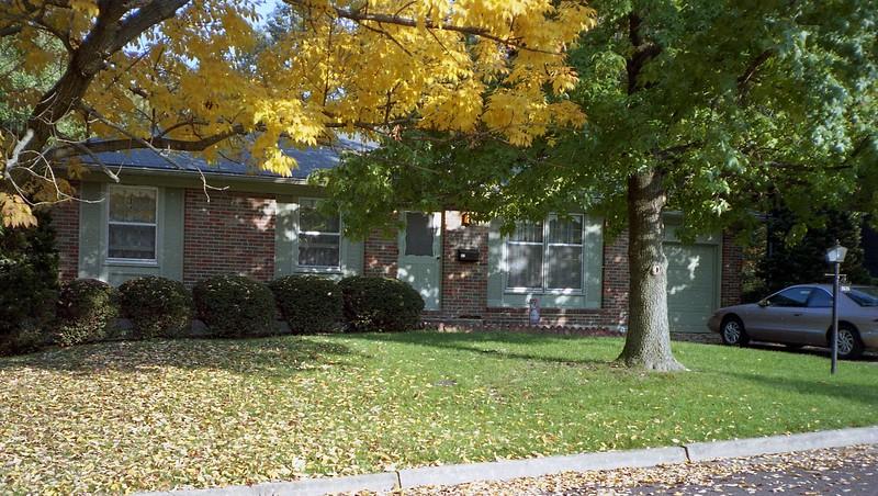 October 10:  A beautiful fall day in Columbia, Missouri.
