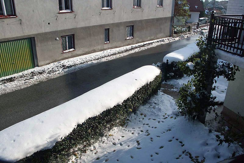 It looked like they got several inches of snow that immediately began to melt.