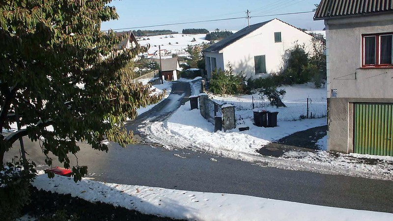 It wasn't a lot of snow.  But it was a snowstorm in October that was enough to be a nuisance.