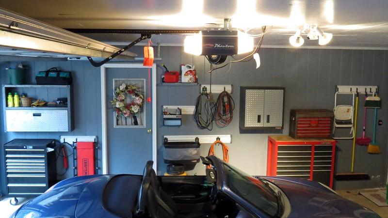 New storage cabinet in the garage.