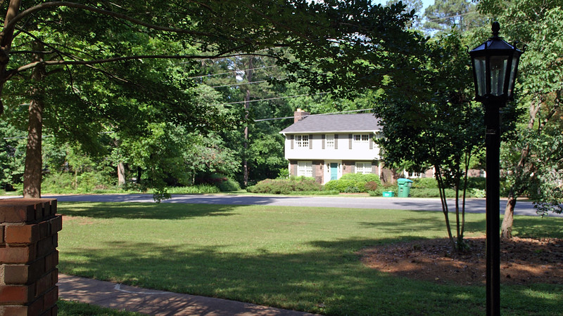 May 29.  The front yard looks much better now that the grass has been cut.