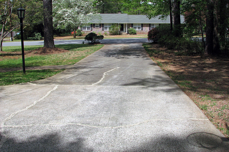 I fired up the new lawnmower and cut the grass.  I then broke out the weed trimmer and did some edging along the driveway.
