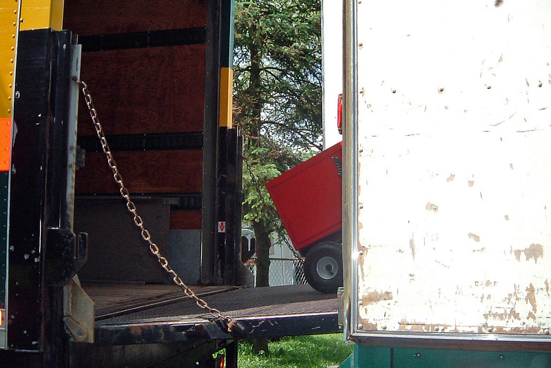 The small truck had arrived from Bedford Ford right on time.  The movers began loading the tools onto the other truck.