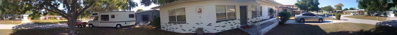 360 degrees of the Front yard