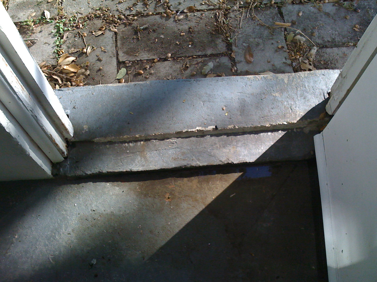 This threshold is letting watter in so we have to figure something out here.  <br /> <br /> Suggestions?