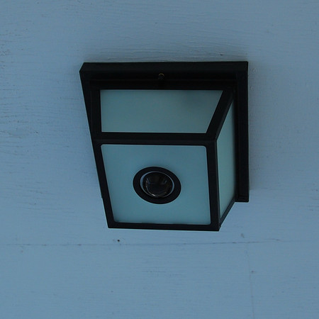 A motion sensitive light for the front door.
