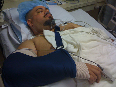 2009 06 26 - Me in the recovery room after surgery. I'm totally out.